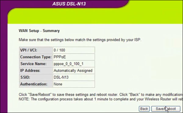 how to reboot asus router manually