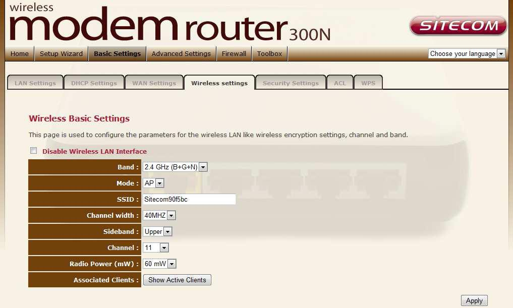 Sitecom Wireless Modem Router