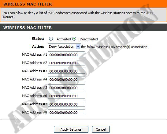 how to find mac address of dlink router
